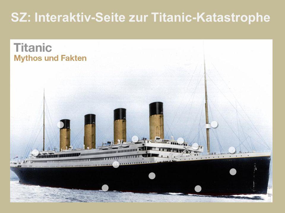 SZ: Interaktiv-Seite zur Titanic-Katastrophe