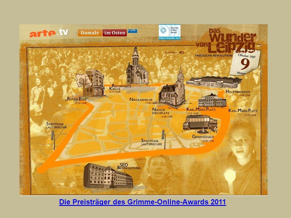 Die Preisträger des Grimme-Online-Awards 2011