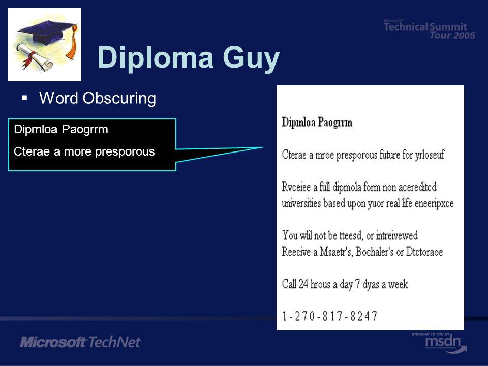 Diploma Guy Word Obscuring Dplmoia Pragorm Caerte a mroe prosoeprus