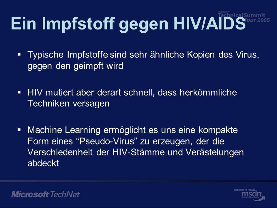 Ein Beispiel bekannter Epitope in einer HIV Sequenz