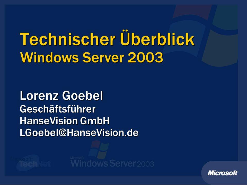 Windows Server 2003 Editionen (genauer) (genauer) Max.