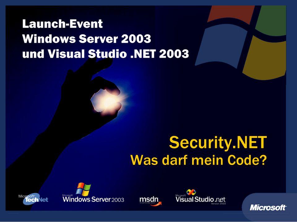Security.NET Was darf mein Code?