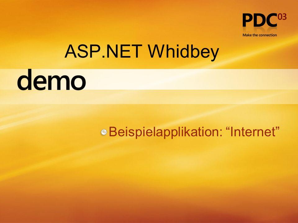 ASP.NET Whidbey Beispielapplikation: Internet
