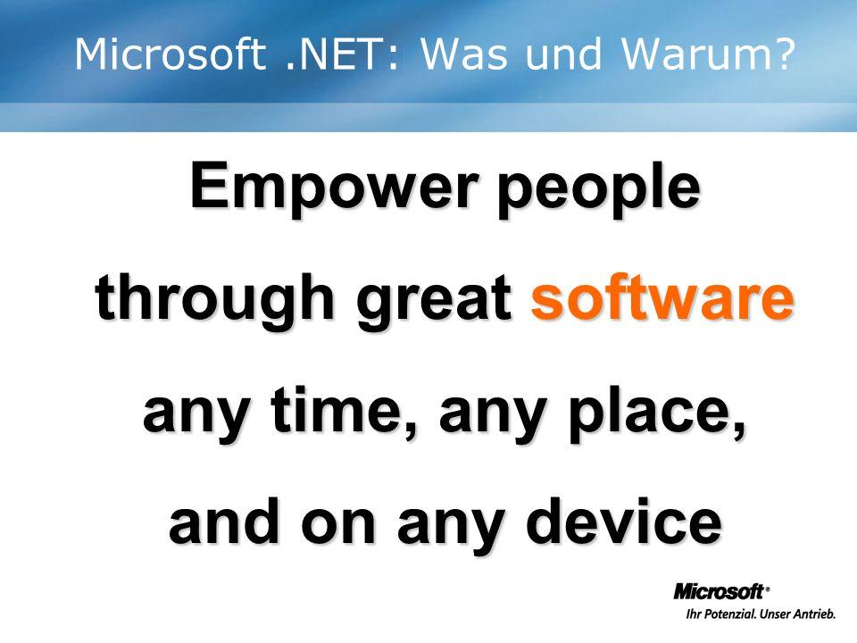Die.NET Evolution III: Heute Im.NET Framework stellt die Common Language Runtime alles zur Verfügung, damit Komponenten direkt miteinander interagieren.
