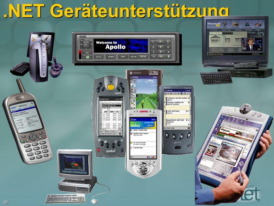 30.NET Geräteunterstützung