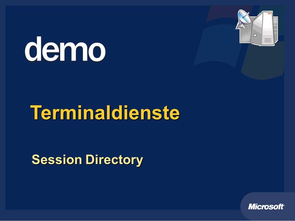 Terminaldienste Session Directory