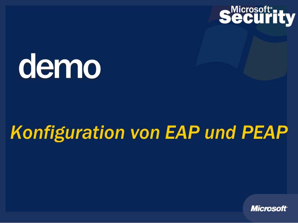Konfiguration von EAP und PEAP