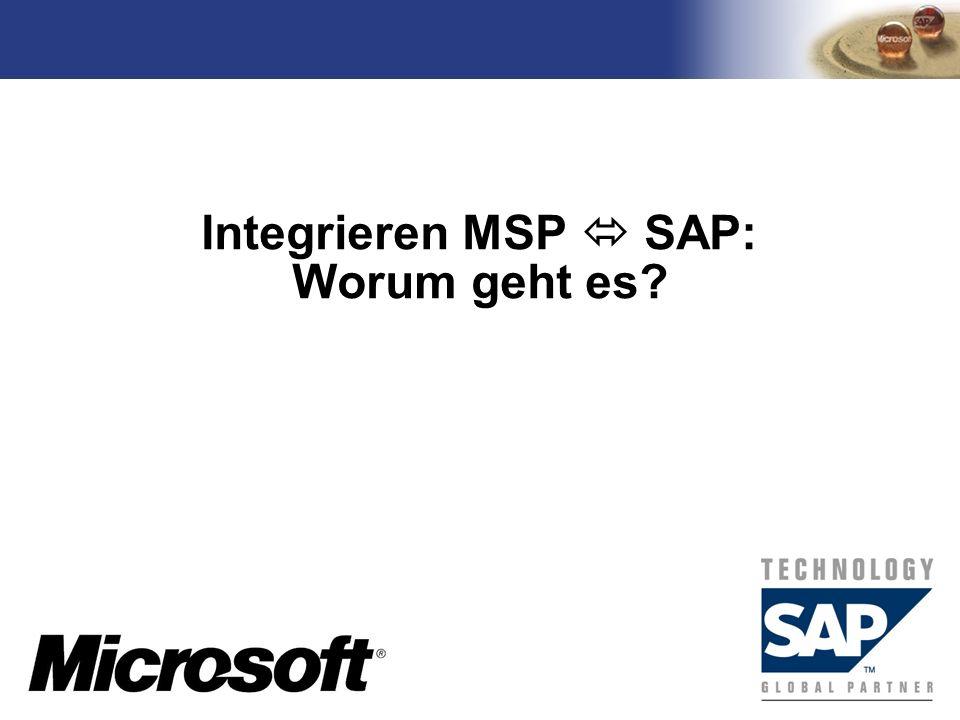 TM Integrieren MSP SAP: Worum geht es?