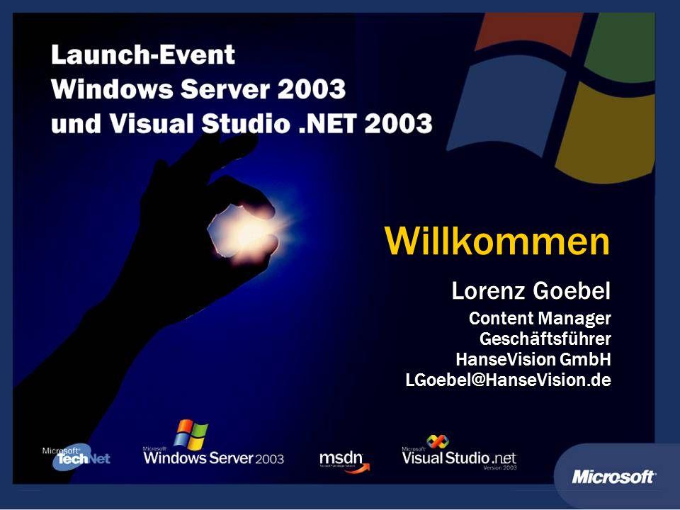 Willkommen Lorenz Goebel Content Manager Geschäftsführer HanseVision GmbH LGoebel@HanseVision.de