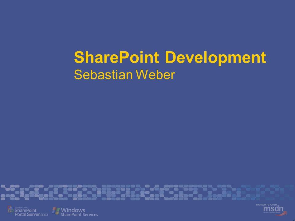 SharePoint Development Sebastian Weber