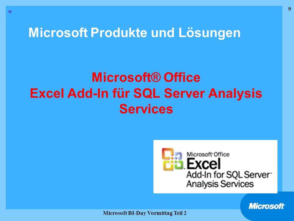 20 Microsoft BI-Day Vormittag Teil 2 Semi-Strukturierte Berichte