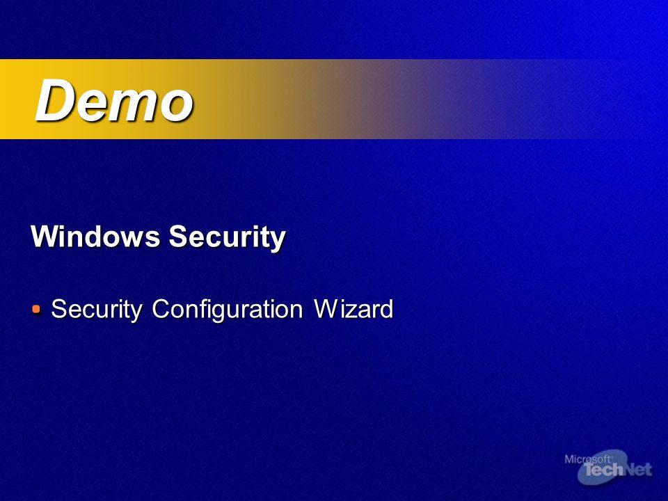 Windows Security Security Configuration Wizard Demo Demo