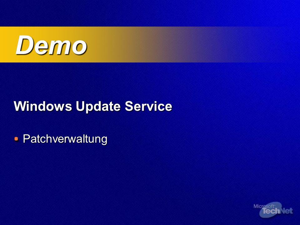 Windows Update Service Patchverwaltung Demo Demo