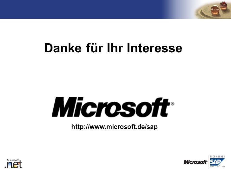 TM http://www.microsoft.de/sap Danke für Ihr Interesse