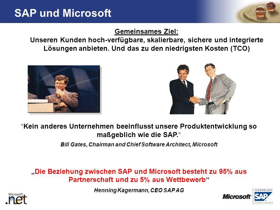 TM Kein anderes Unternehmen beeinflusst unsere Produktentwicklung so maßgeblich wie die SAP. Bill Gates, Chairman and Chief Software Architect, Micros