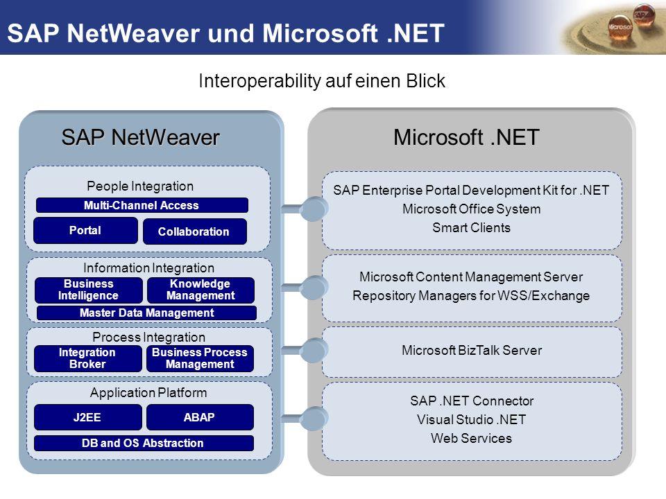 TM Process Integration Information Integration Application Platform DB and OS Abstraction Process Integration People Integration SAP NetWeaver Applica