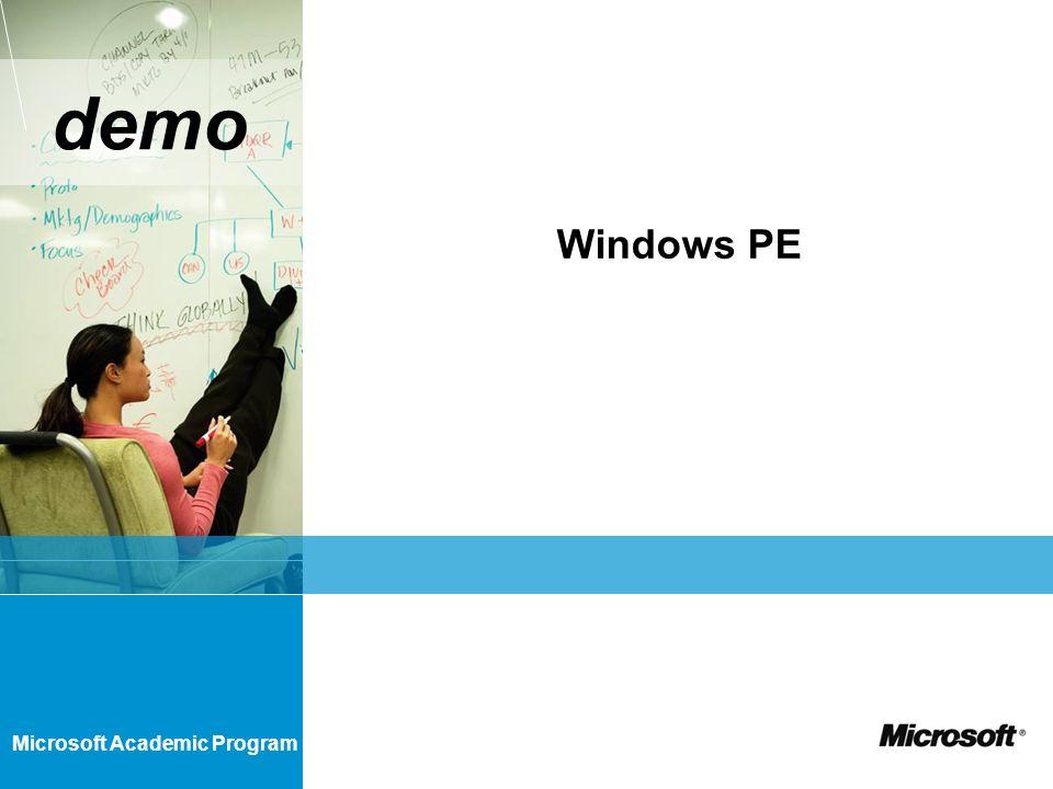 Microsoft Academic Program demo Windows PE