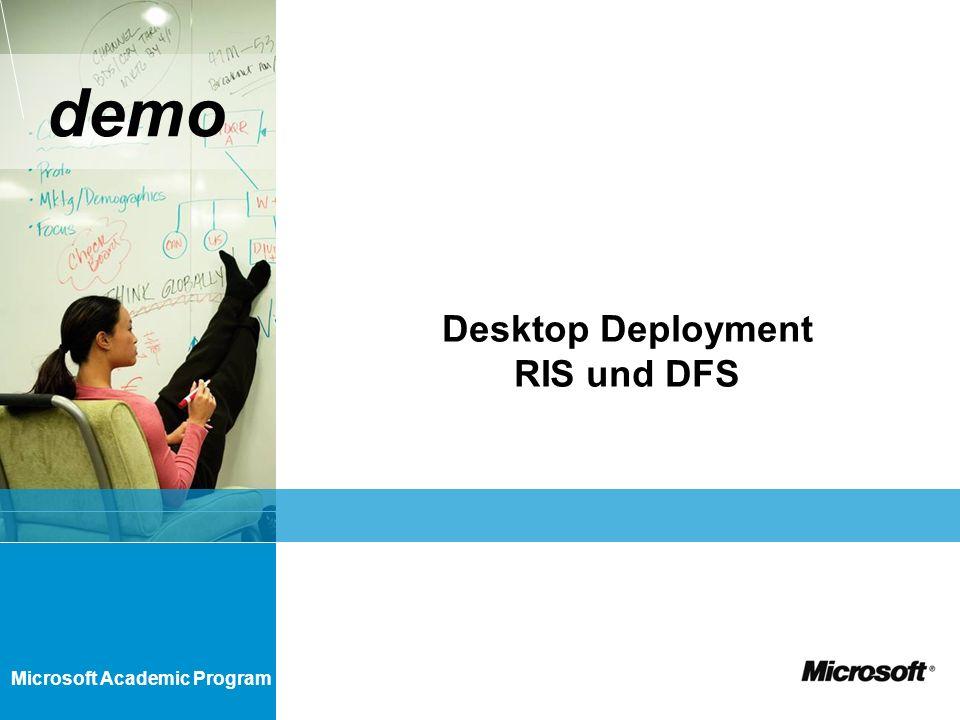 Microsoft Academic Program demo Desktop Deployment RIS und DFS