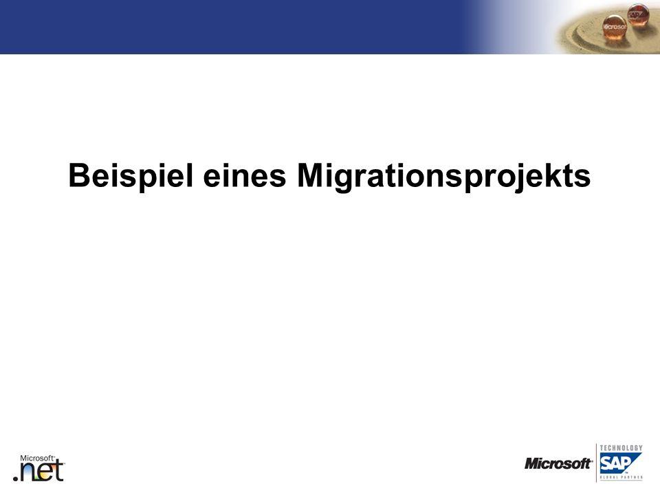 TM Beispiel eines Migrationsprojekts