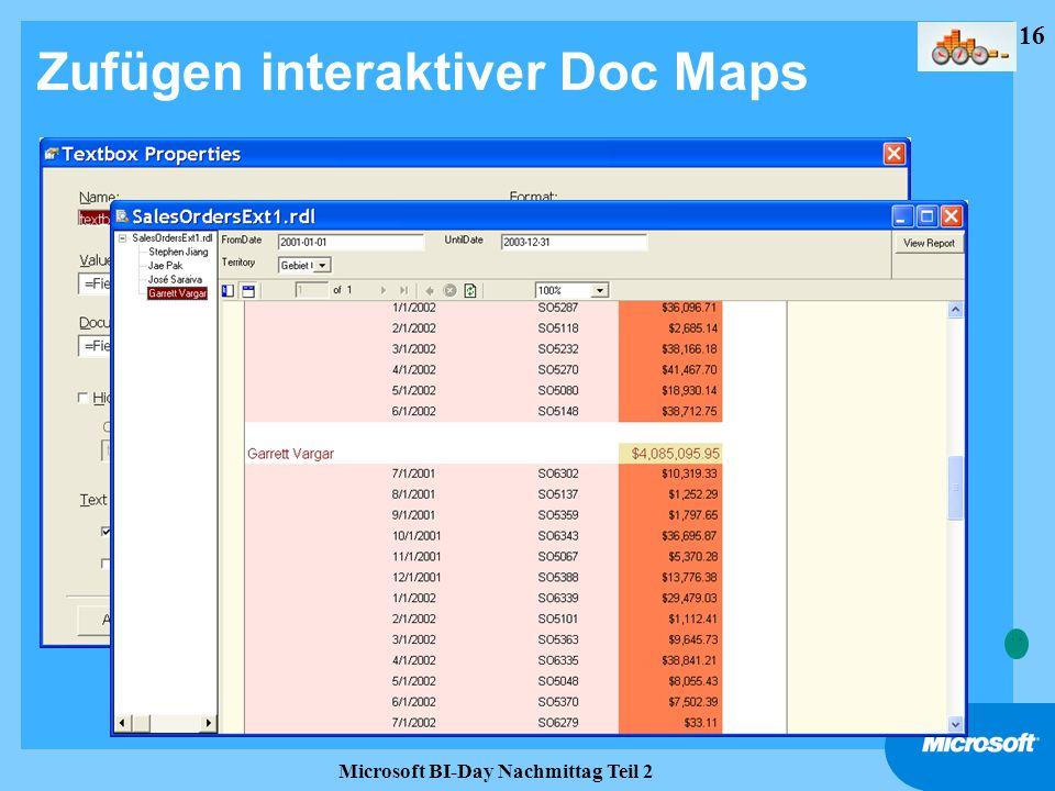16 Microsoft BI-Day Nachmittag Teil 2 Zufügen interaktiver Doc Maps
