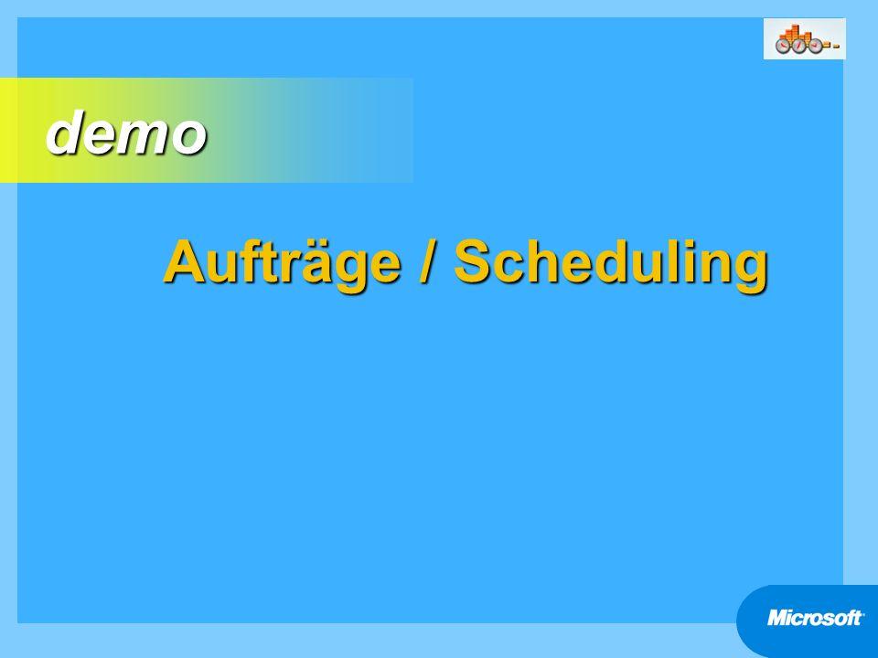 Aufträge / Scheduling demo demo