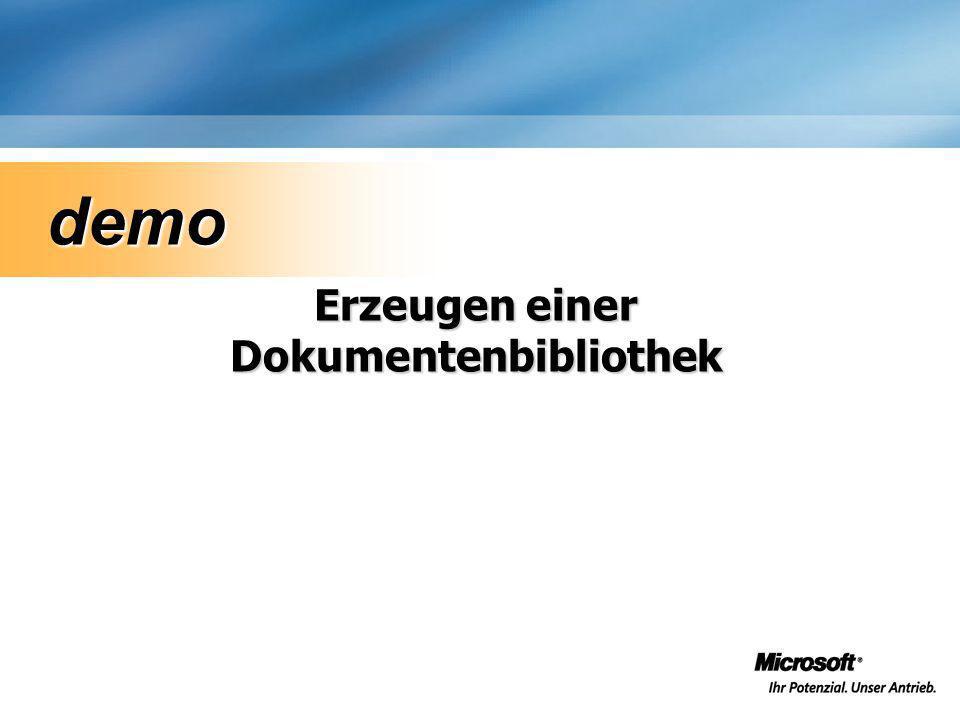 Erzeugen einer Dokumentenbibliothek demo demo