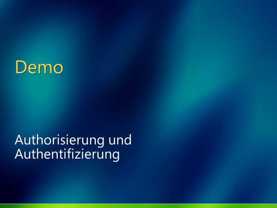 Demo Authorisierung und Authentifizierung