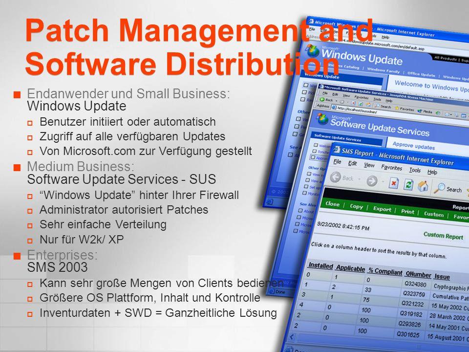 Endanwender und Small Business: Windows Update Benutzer initiiert oder automatisch Zugriff auf alle verfügbaren Updates Von Microsoft.com zur Verfügun