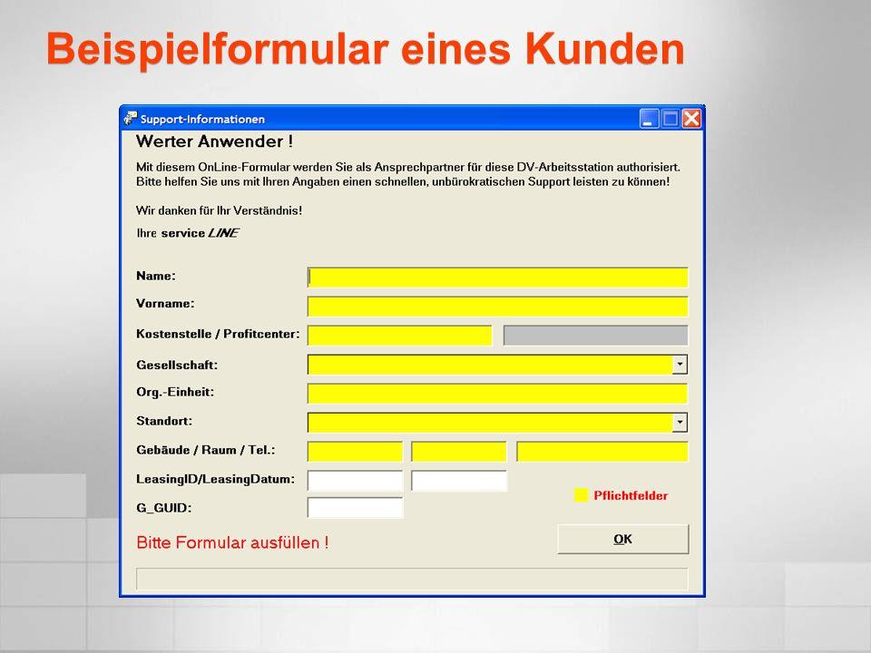 Windows Installer Integration mit Microsoft Lösungen II Portal, in der Informationen über Pakete gespeichert sind.
