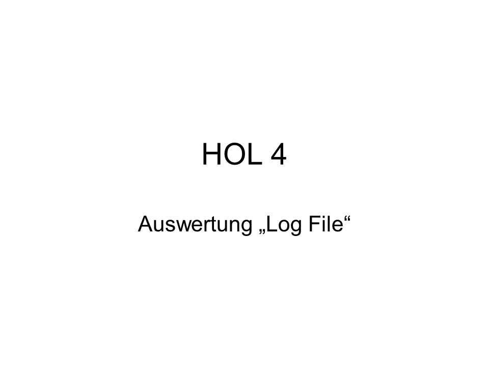 HOL 4 Auswertung Log File