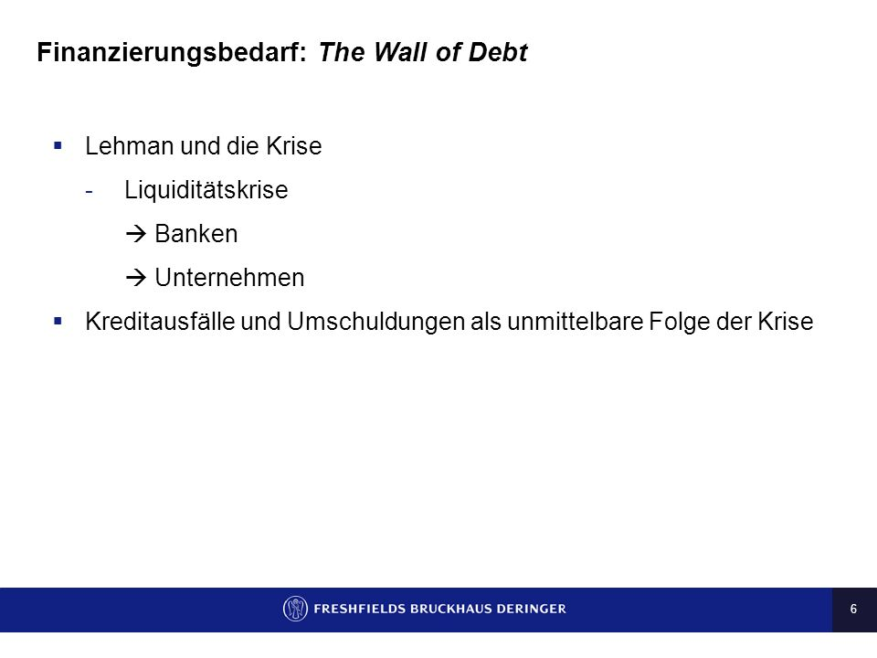 7 Finanzierungsbedarf: The Wall of Debt Source S&P 9.5 12.1 2.2 2.1 0.4 0.6 1.3 0.6 0.81.2 0.7 5.8 38.7 5.3 -- 10 20 30 40 50 200420052006200720082009H1- 2010 Defaults Restructurings Distressed debt market in Europe (bn)