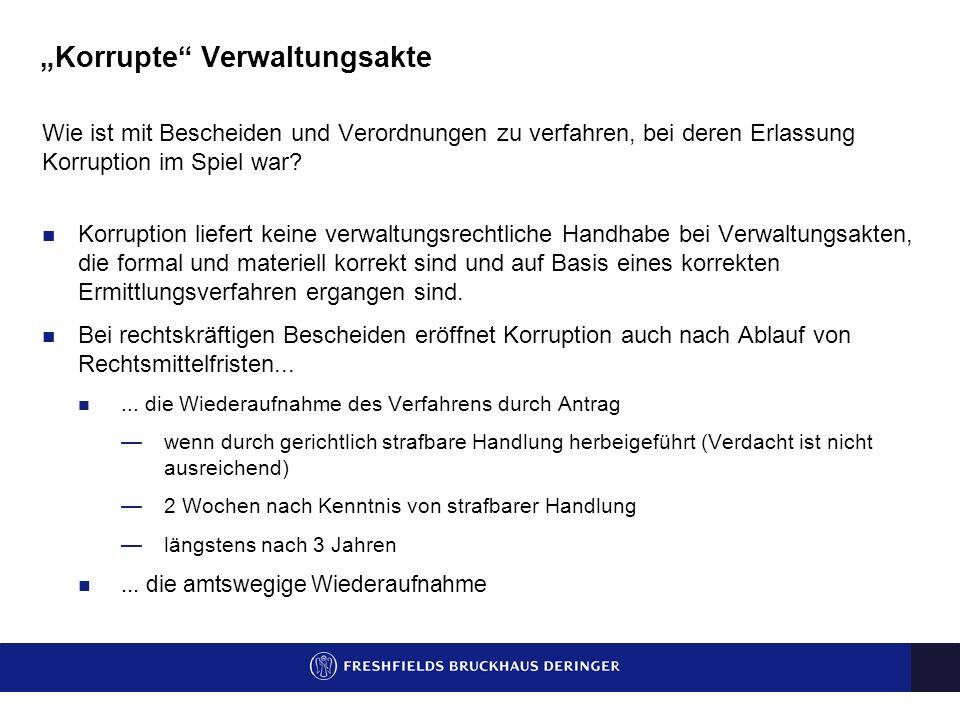 Anfechtung korrupter behördlicher Anordnungen Bertram Burtscher / Stephan Denk