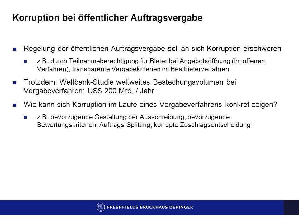 Spezialfall: Anfechtung korrupter öffentlicher Auftragsvergabe Stephan Denk