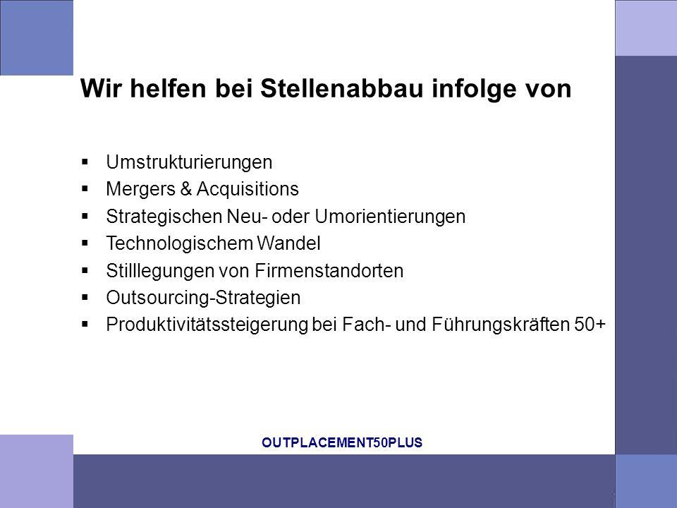 OUTPLACEMENT50PLUS Entspannen Gestalten Aufbrechen OUTPLACEMENT50PLUS GmbH Peter Meierhofer, lic.