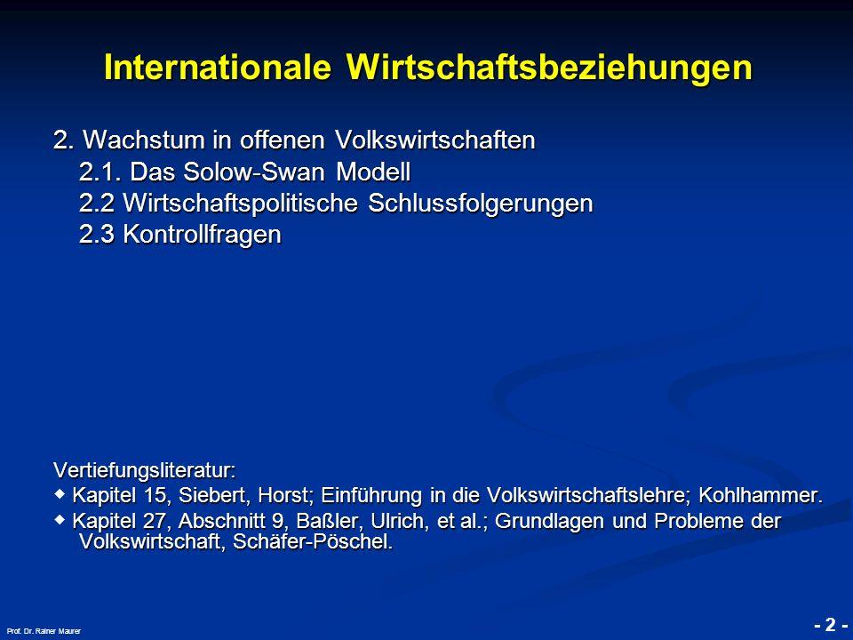 © RAINER MAURER, Pforzheim - 23 - Prof.Dr. Rainer Maurer 2.