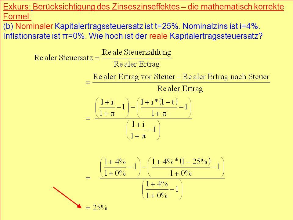 © RAINER MAURER, Pforzheim - 28 - Prof. Dr. Rainer Maure - 28 - Prof. Dr. Rainer Maurer Exkurs: Berücksichtigung des Zinseszinseffektes – die mathemat