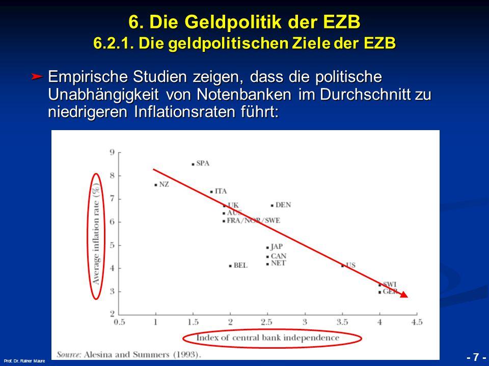 © RAINER MAURER, Pforzheim - 58 - Prof. Dr. Rainer Maure Quelle: ECB, eigene Berechnungen