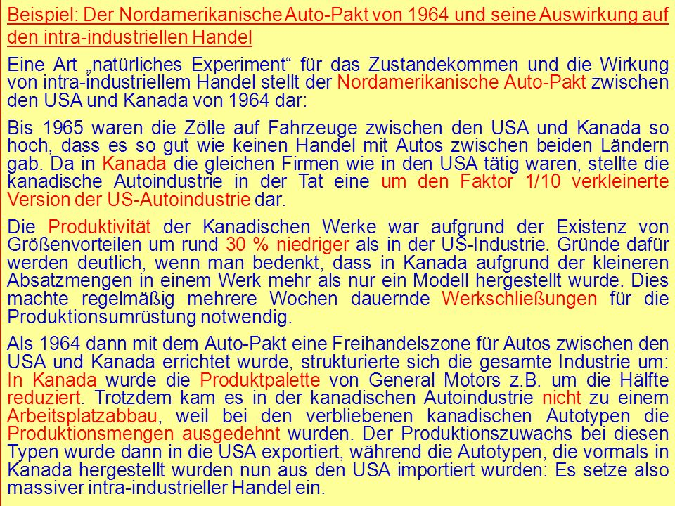 © RAINER MAURER, Pforzheim - 19 - Prof. Dr. Rainer Maure - 19 - Prof. Dr. Rainer Maurer Beispiel: Der Nordamerikanische Auto-Pakt von 1964 und seine A