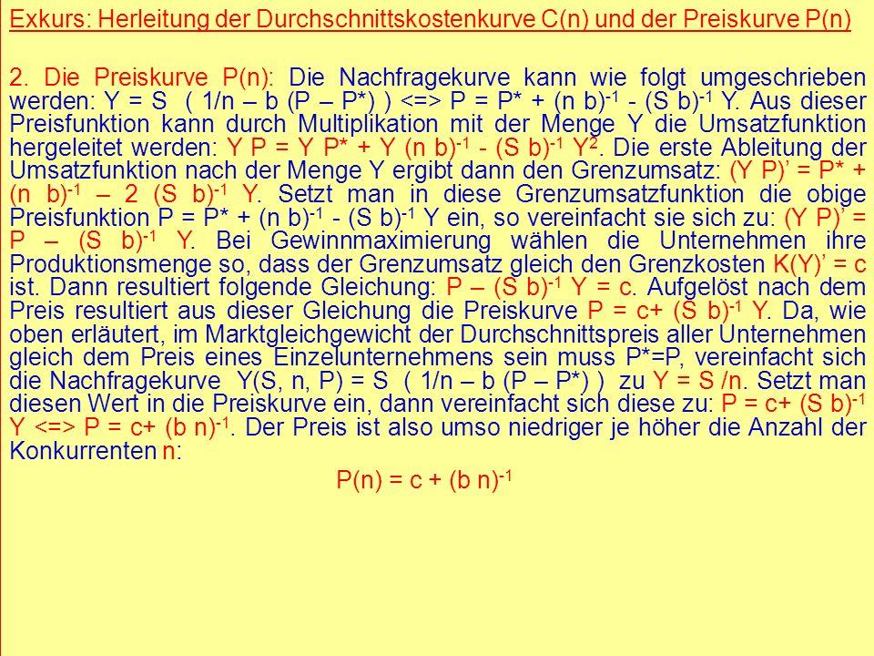 © RAINER MAURER, Pforzheim - 7 - Prof. Dr. Rainer Maure - 7 - Prof. Dr. Rainer Maurer Exkurs: Herleitung der Durchschnittskostenkurve C(n) und der Pre