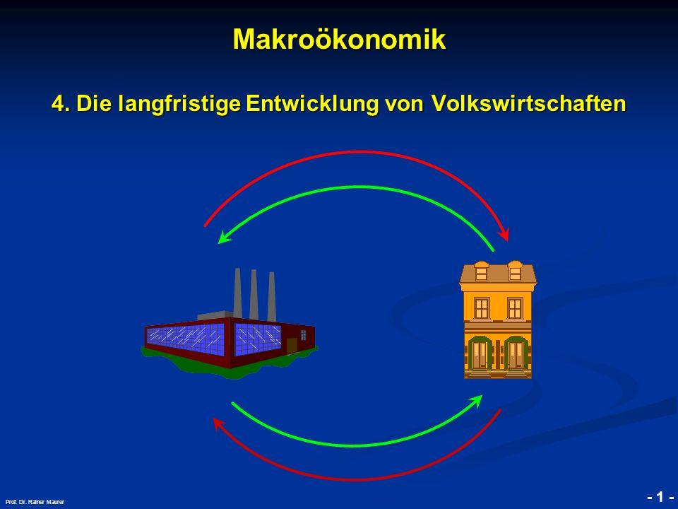 © RAINER MAURER, Pforzheim - 2 - Prof.Dr. Rainer Maurer Makroökonomik Makroökonomik 4.