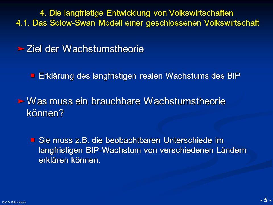 © RAINER MAURER, Pforzheim - 6 - Prof. Dr. Rainer Maurer Quelle: Penn World Tables, NBER