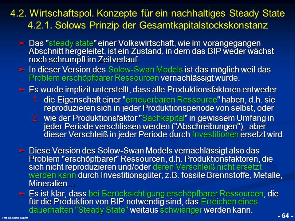 © RAINER MAURER, Pforzheim - 64 - Prof. Dr. Rainer Maurer Das