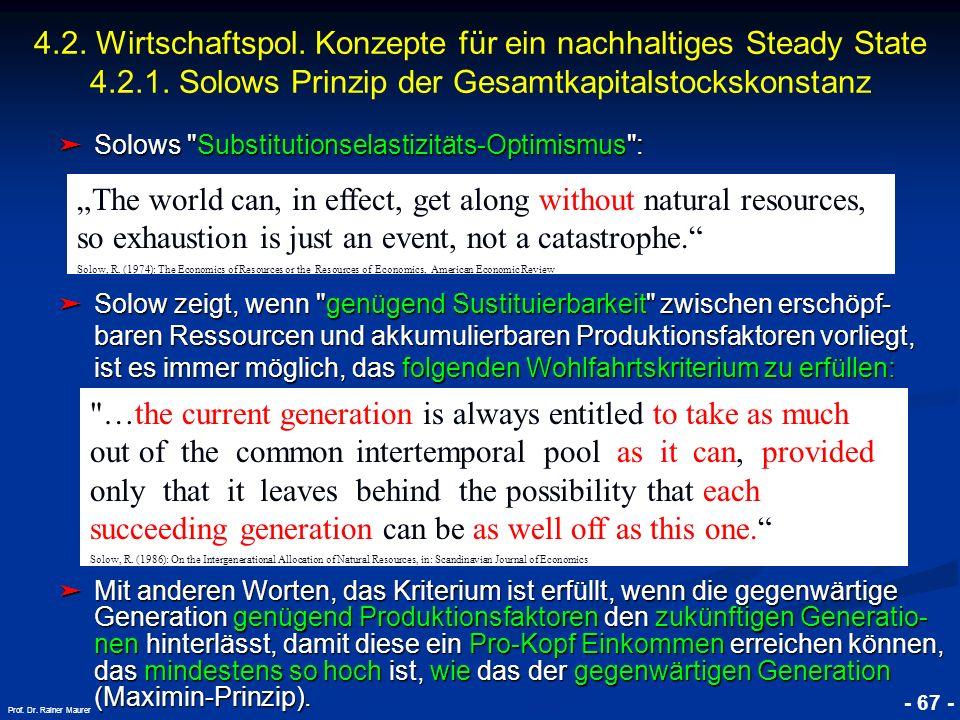 © RAINER MAURER, Pforzheim - 67 - Prof. Dr. Rainer Maurer Solows