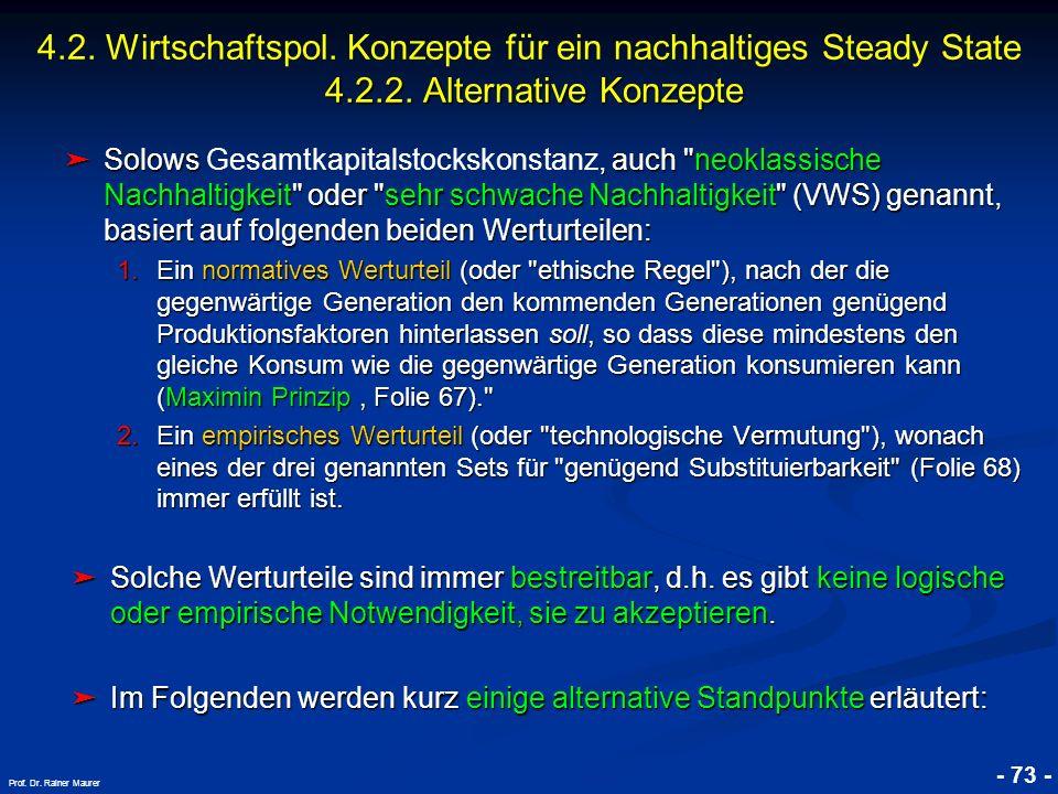 © RAINER MAURER, Pforzheim - 73 - Prof. Dr. Rainer Maurer Solows, auch