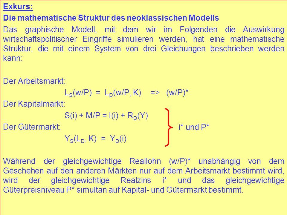 © RAINER MAURER, Pforzheim - 96 - Prof. Dr. Rainer Maurer Exkurs: Die mathematische Struktur des neoklassischen Modells Das graphische Modell, mit dem