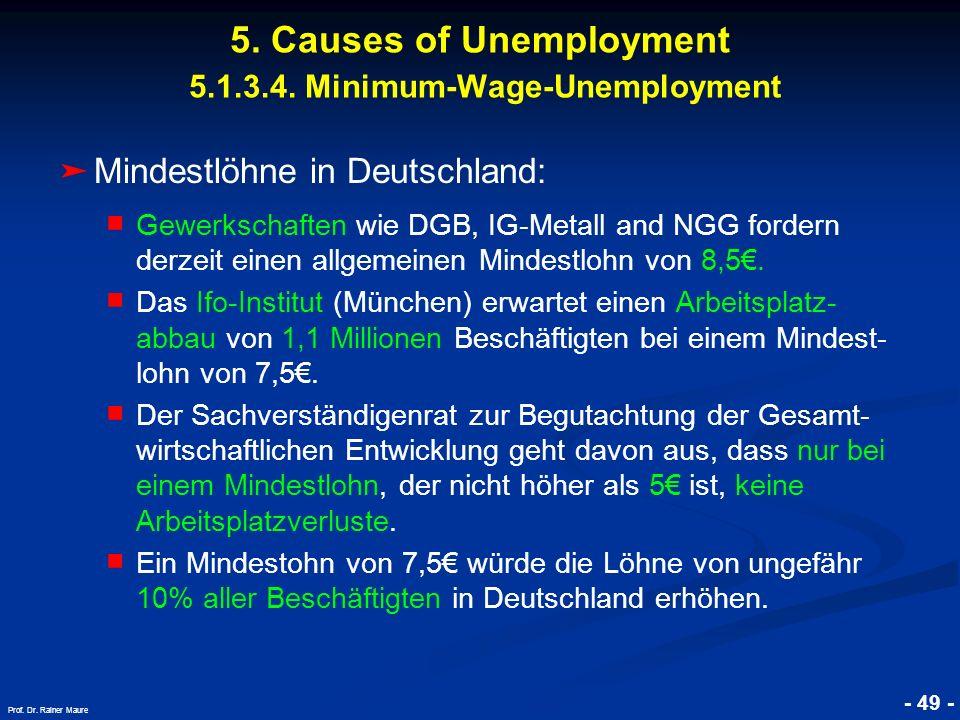 © RAINER MAURER, Pforzheim - 49 - Prof. Dr. Rainer Maure Mindestlöhne in Deutschland: Gewerkschaften wie DGB, IG-Metall and NGG fordern derzeit einen