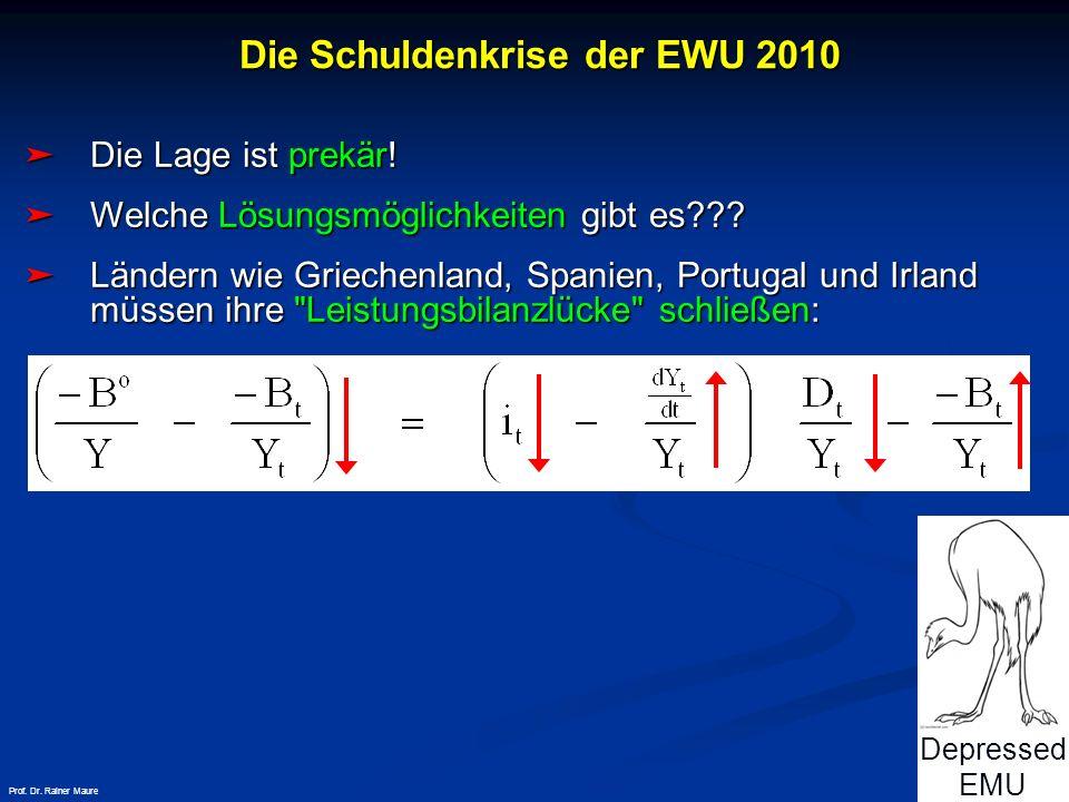 © RAINER MAURER, Pforzheim - 25 - Prof. Dr. Rainer Maure Die Lage ist prekär! Die Lage ist prekär! Welche Lösungsmöglichkeiten gibt es??? Welche Lösun