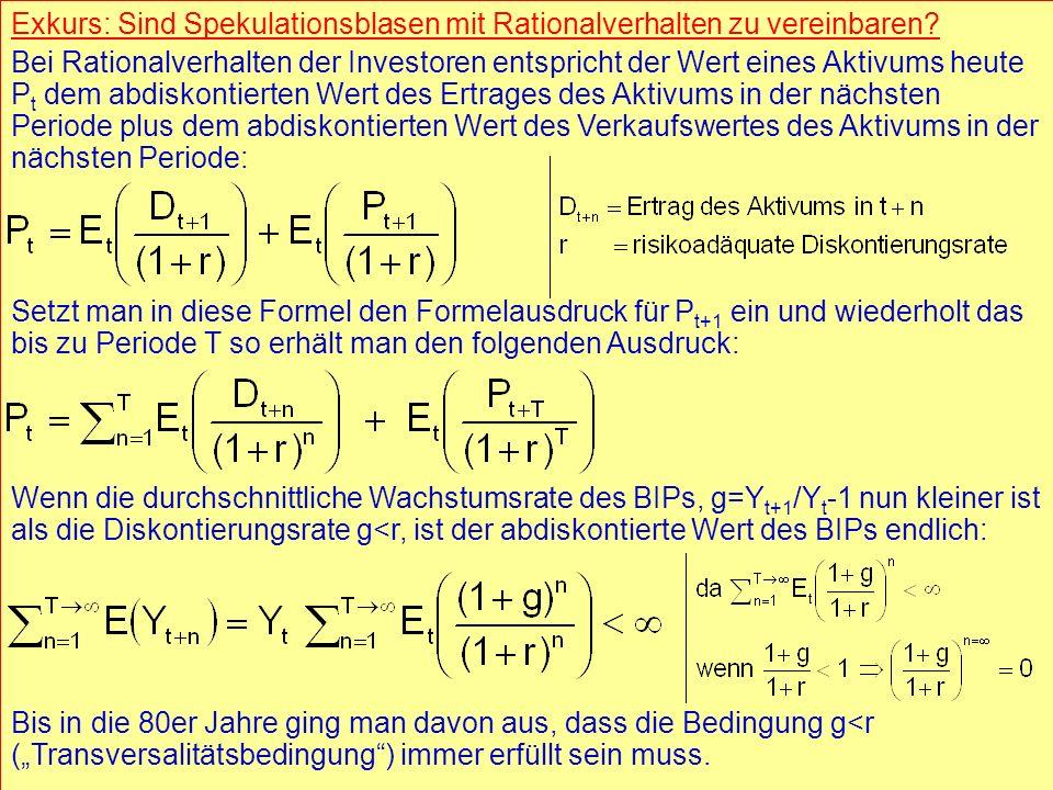 © RAINER MAURER, Pforzheim - 16 - Prof. Dr. Rainer Maure - 16 - Prof. Dr. Rainer Maurer Exkurs: Sind Spekulationsblasen mit Rationalverhalten zu verei