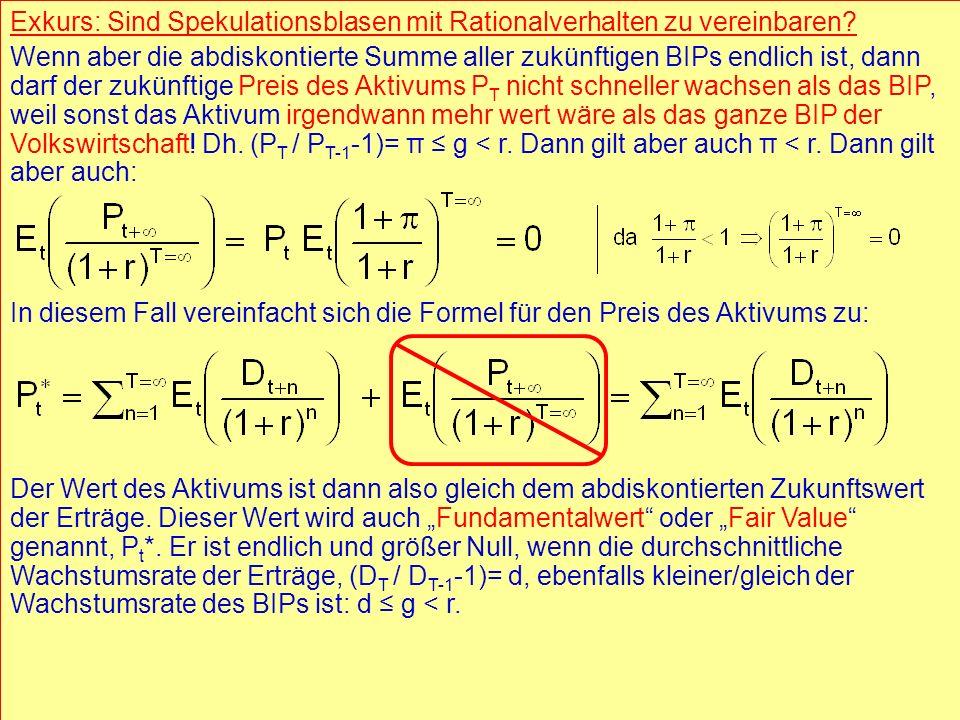 © RAINER MAURER, Pforzheim - 17 - Prof. Dr. Rainer Maure - 17 - Prof. Dr. Rainer Maurer Exkurs: Sind Spekulationsblasen mit Rationalverhalten zu verei