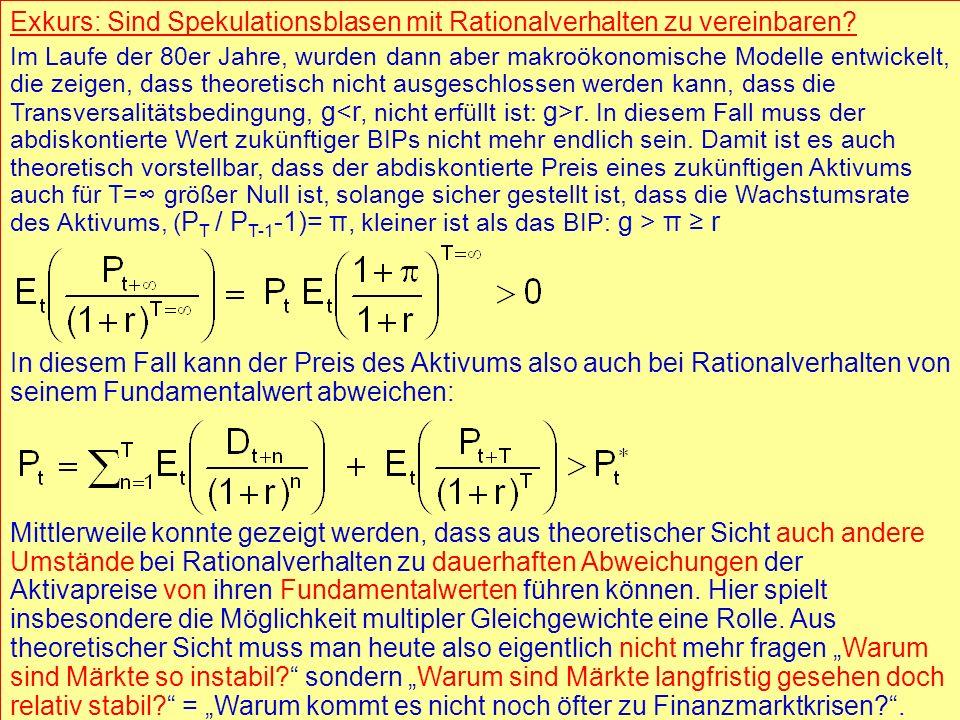 © RAINER MAURER, Pforzheim - 18 - Prof. Dr. Rainer Maure - 18 - Prof. Dr. Rainer Maurer Exkurs: Sind Spekulationsblasen mit Rationalverhalten zu verei